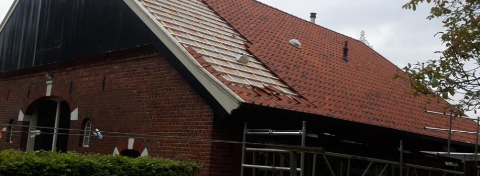 Renovatie van het dak boerderij
